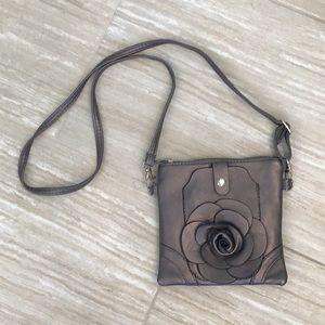 Pewter Cross body purse
